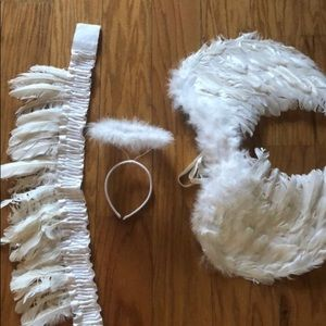 Angel Costume (belt, halo and feather wings)